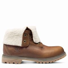 Timberland Authentics Teddy Fleece Fold-down Dam Stövlar Bruna [94159CIN]