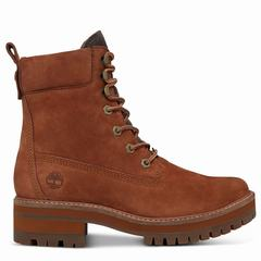 Timberland Courmayeur Valley Lace-up Boot Dam Stövlar Röda [52498MED]